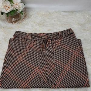 New York and Company Plaid Skirt